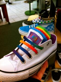Free Stock Photo of Rainbow Converse