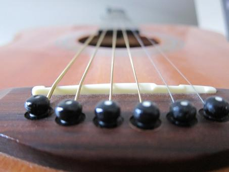 Free Stock Photo of Guitar from the bridge