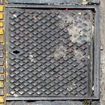 Free Stock Photo of Sewer Lid