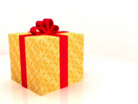 Free Stock Photo of Golden Gift Background