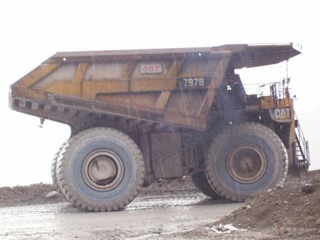 Free Stock Photo of Haul Truck on gold mine