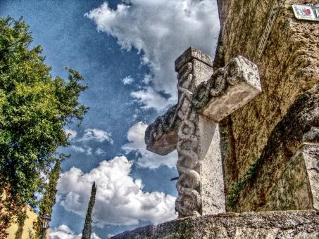 Free Stock Photo of Stone Cross
