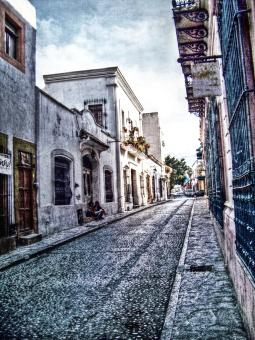 Free Stock Photo of Old typical street