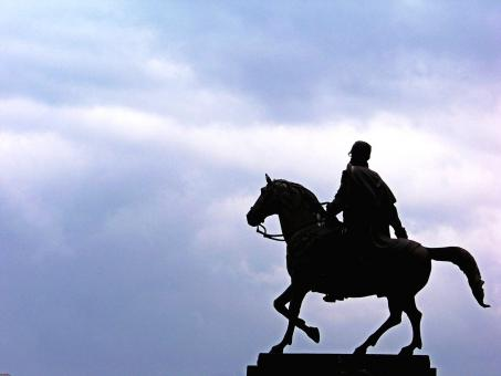 Free Stock Photo of Horseman statue