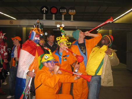 Free Stock Photo of Dutch Fans in Green Point Stadium