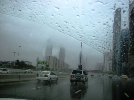 Free Stock Photo of Rainy day in Dubai