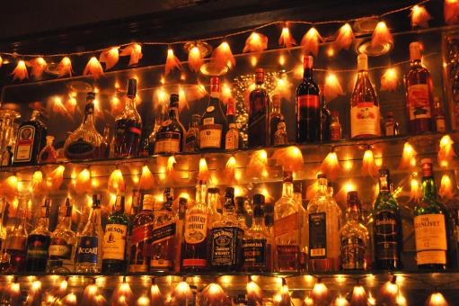 Free Stock Photo of Lighted Liquor