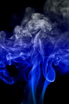 Free Stock Photo of Thick Blue Smoke on Black