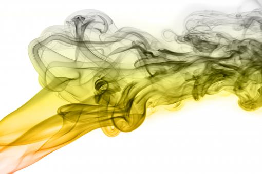 Free Stock Photo of Yellow and Gray Smoke on White Background