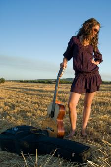 Free Stock Photo of Spanish Guitar Girl