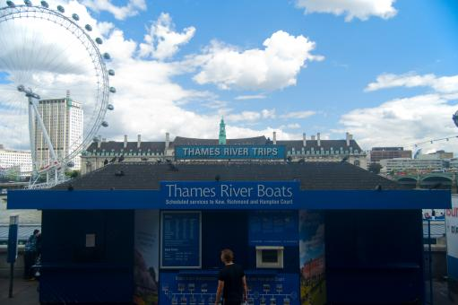 Free Stock Photo of Thames River Boats