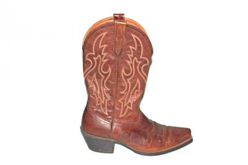 Free Stock Photo of Brown Leather Cowboy Boot