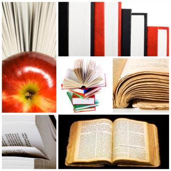 Free Stock Photo of books collage
