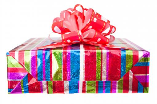 Free Stock Photo of Wrapped Gift