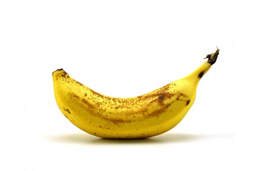 Free Stock Photo of Single Banana on White