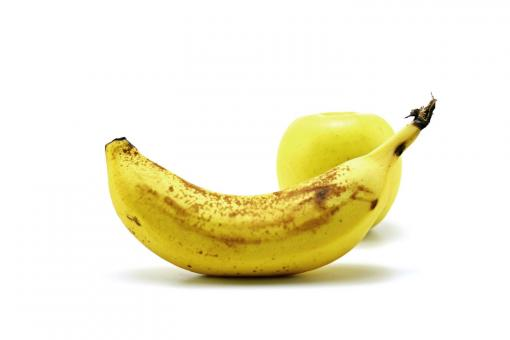 Free Stock Photo of banana and apple
