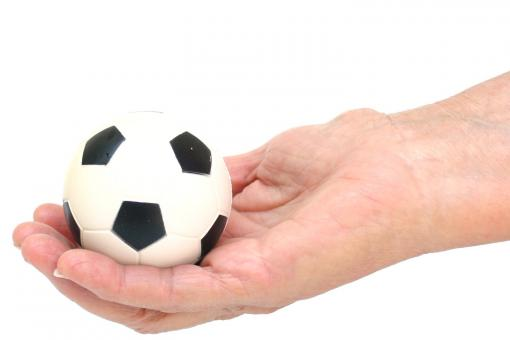 Free Stock Photo of soccer ball in hand