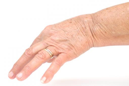 Free Stock Photo of old woman hand
