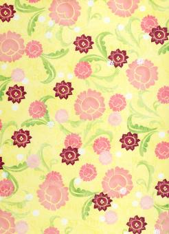 Free Stock Photo of Girly Yellow Floral Paper