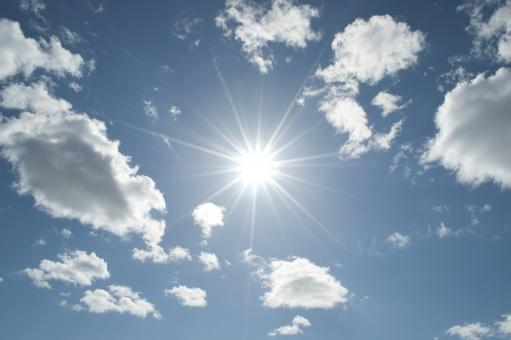 Free Stock Photo of Sun in the sky