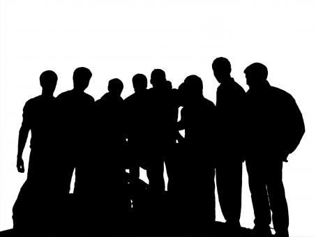 Free Stock Photo of Silhouette of People