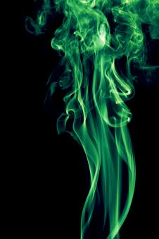Free Stock Photo of Green Abstract Smoke
