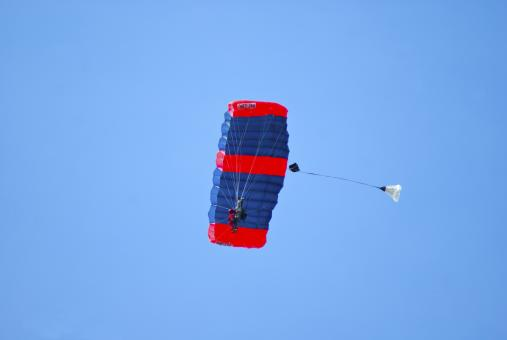 Free Stock Photo of Tandem Parachuting 2