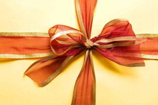 Free Stock Photo of present box with red bow