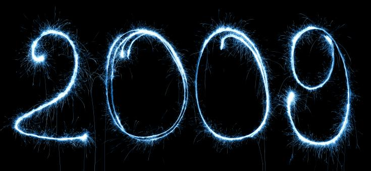 Free Stock Photo of 2009 Sparkler