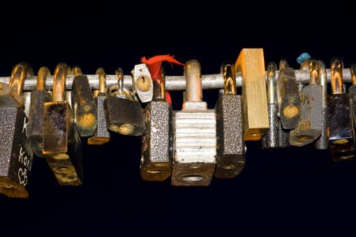Free Stock Photo of love locks