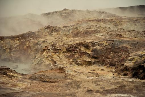 Free Stock Photo of Geothermal Landscape
