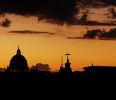Free Stock Photo of Sunset over Rome