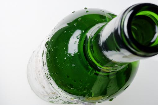 Free Stock Photo of Green Bottle
