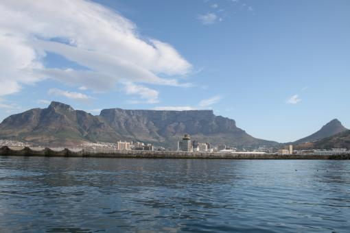 Free Stock Photo of Table Mountain from Table Bay