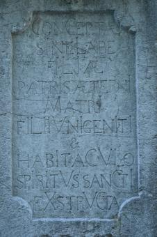 Free Stock Photo of Latin words in stone
