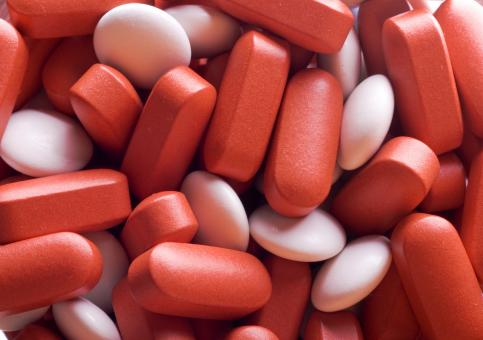 Free Stock Photo of Red and White Pills