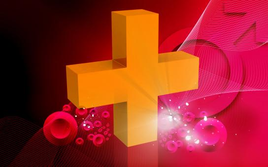 Free Stock Photo of Medical Icon - Cross on Red Background