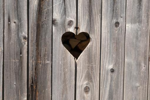 Free Stock Photo of Heart on wood