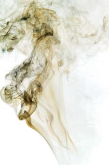 Free Stock Photo of Swirly Smoke on White Background
