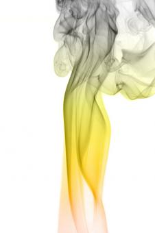 Free Stock Photo of Yellow and Gray Smoke Background