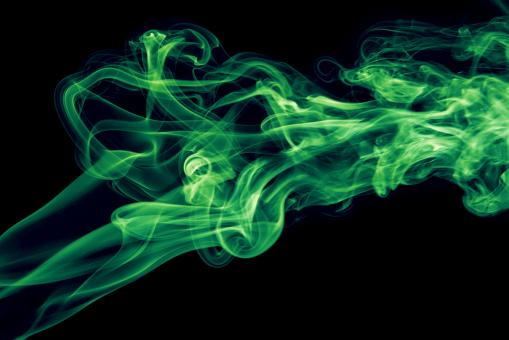 Free Stock Photo of Green Colored Smoke