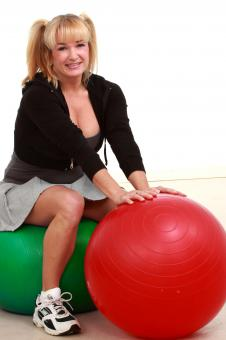 Free Stock Photo of Mature woman with balls