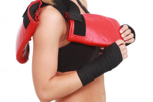 Free Stock Photo of Woman with boxing gloves