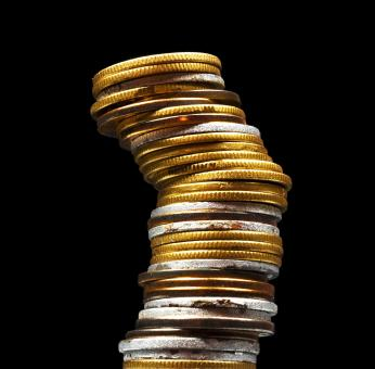 Free Stock Photo of Stacked Coins