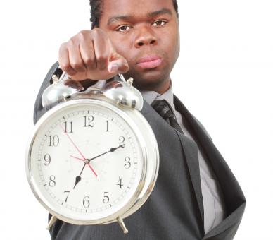 Free Stock Photo of Man with clock