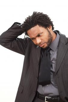Free Stock Photo of Worried businessman
