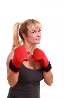 Free Stock Photo of Woman ready to fight