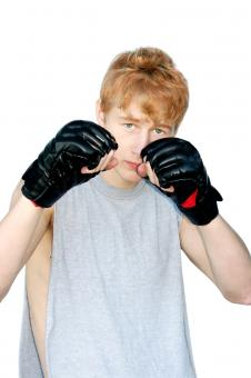 Free Stock Photo of Young man ready to fight