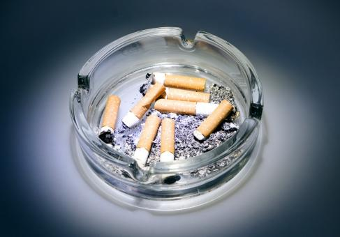 Free Stock Photo of Ashtray with Cigarette Buds