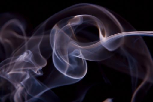 Free Stock Photo of Cigarette Smoke on Black